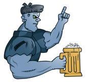 Senhor Frankenstein Holding Glass da cerveja ilustração royalty free