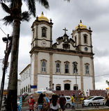 Senhor hace la iglesia de Bonfim en Salvador, Bahía en el Brasil Fotografía de archivo