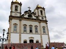Senhor hace la iglesia de Bonfim en Salvador, Bahía en el Brasil Imagen de archivo libre de regalías