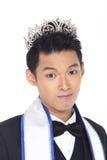 Senhor Pageant Contest no terno da bola da noite com Diamond Crown, Fotos de Stock