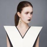 Senhora à moda Fotografia de Stock