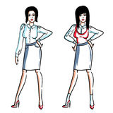 Senhora à moda do escritório Fotografia de Stock Royalty Free