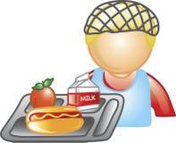 Senhora ícone do almoço ilustração stock