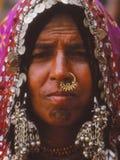 Senhora aciganada, Jaisalmer, Índia Imagens de Stock