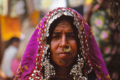 Senhora aciganada, Jaisalmer, Índia Fotografia de Stock Royalty Free