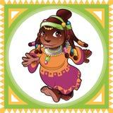 Senhora Africano ilustração royalty free