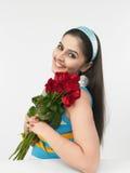 Senhora asiática com rosas Imagens de Stock
