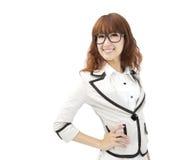 Senhora asiática do escritório isolada Foto de Stock