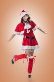 Senhora atrativa do Natal Foto de Stock