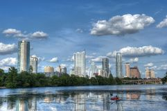 Senhora Bird Lake, Austin, Texas Imagem de Stock Royalty Free