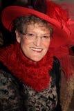 Senhora bonita de Red Hat Imagens de Stock Royalty Free