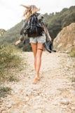 Senhora bonita em férias de verão Imagens de Stock Royalty Free