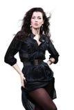 Senhora bonita no preto Fotografia de Stock Royalty Free