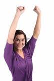 Senhora Cheering da beleza Fotos de Stock Royalty Free