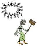 Senhora cleaning-100 do monstro do vivo Fotografia de Stock
