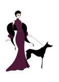 Senhora com cão Fotografia de Stock Royalty Free