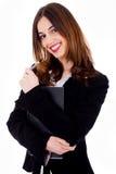 Senhora com caderno Fotografia de Stock Royalty Free