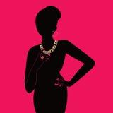Senhora com jóia ilustração royalty free