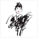Senhora da beleza ilustração royalty free