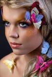 Senhora da borboleta Imagens de Stock Royalty Free