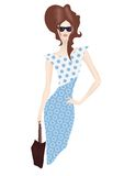 Senhora da compra com saco ilustração royalty free