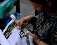 Senhora da costura no Pequim Fotografia de Stock