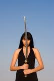Senhora da espada Imagens de Stock