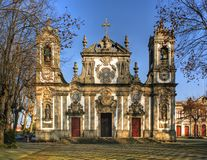 Senhora da Hora church in Matosinhos. Portugal Royalty Free Stock Photos