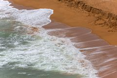 Senhora da Rocha Beach. In the fishing village of Armacao de Pera, Algarve, Portugal Stock Photography