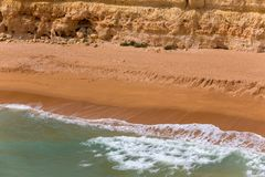 Senhora da Rocha Beach. In the fishing village of Armacao de Pera, Algarve, Portugal Stock Image