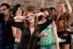 Senhora Dança Fotografia de Stock