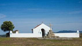 Senhora das内韦斯偏僻寺院, Malpica做Tejo,布朗库堡,贝拉Baixa,葡萄牙 库存照片