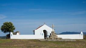 Senhora das Neves hermitage, Malpica do Tejo, Castelo Branco, Beira Baixa, Portugal. General view of Senhora das Neves (Our Lady of snows), hermitage located in Stock Photo