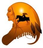 Senhora de Apache ilustração stock