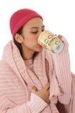 Senhora de congelação Fotografia de Stock Royalty Free