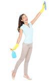Senhora de limpeza Fotos de Stock