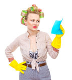 Senhora de limpeza Imagens de Stock Royalty Free