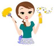 Senhora de limpeza Imagem de Stock Royalty Free