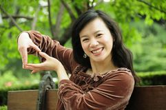 Senhora de sorriso Imagem de Stock