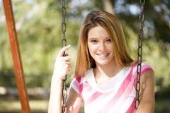 Senhora de sorriso Foto de Stock