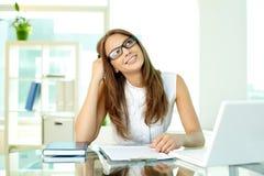 Senhora de sorriso do negócio Foto de Stock Royalty Free