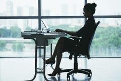 Senhora de trabalho do negócio Fotos de Stock Royalty Free