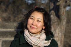Senhora do Asian do inverno fotografia de stock royalty free