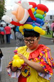 Senhora do Ballon no mercado de hobart Imagens de Stock