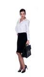 Senhora do escritório com terno Imagem de Stock Royalty Free