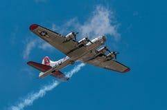 Senhora do ianque do bombardeiro de B-17G fotos de stock