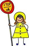 Senhora do Lollipop ilustração stock