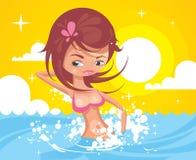 Senhora do mar Ilustração Stock