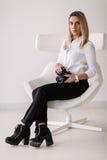 Senhora #37 do negócio Fotografia de Stock