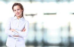 Senhora do negócio com olhar positivo Imagem de Stock